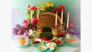 "Haft Seen/Nowruz/March Equinox/Seven ""S""s Table/Persian New Year/Iranian celebration"