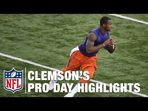 Clemson Pro Day Deshaun Watson and Mike Williams Highlights & Mike Mayock s Analysis NFL