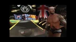 Wwe ~ Big Show chokeslams Randy Orton through the Announce Table