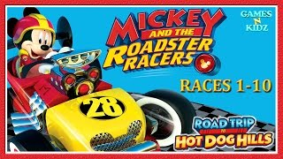 Mickey And The Roadster Racers: Mickey Vs Minnie - Races 1-10 - Disney Junior App For Kids