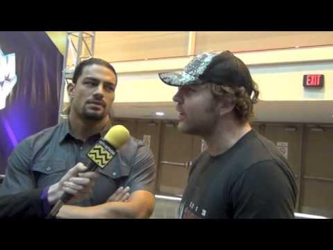WWE Dean Ambrose & Roman Reigns AfterBuzz TV Interview Wrestlemania Axxess April 6th 2014
