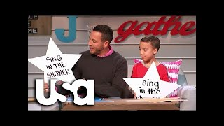 Big Star Little Star | Backstreet Boys Howie Dorough And Son Sing In The Shower | USA Network