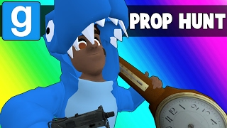 Gmod Prop Hunt Funny Moments - Blue Circles and Suggestive Clocks (Garry