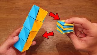 How To Make A Paper MAGIC CUBES SPIRAL - Fun & Easy Origami