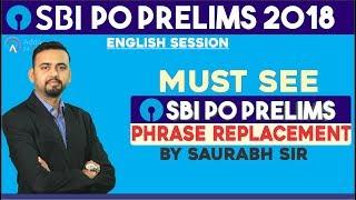 SBI PO   PHRASE REPLACEMENT  ENGLISH   SAURABH SIR