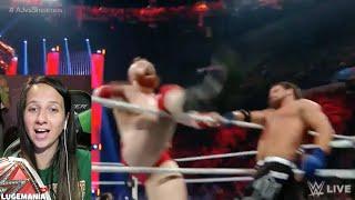 WWE Raw 4/25/16 AJ Styles vs Sheamus