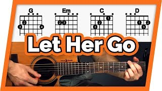 Let Her Go Guitar Tutorial (Passenger) Easy Chords Guitar Lesson