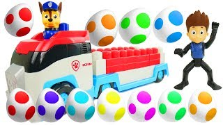 Best Learning Colors Video with Paw Patrol Ionix Patroller Surprise Eggs Chase Skye Sparkle Spice