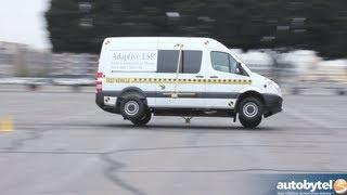 2013 Mercedes Sprinter Tour ESP Obstacle Avoidance Demo & Car Safety Test Video
