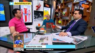 Sebastián Viera, en Kick Off   Win Sports
