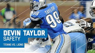 DeMarco Murray Wrapped Up in the End Zone for a Safety! | Titans vs. Lions | NFL