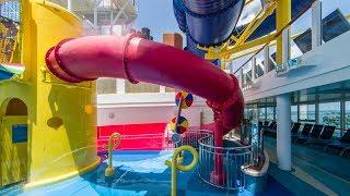 Norwegian Escape - Red Body Slide   Waterslide on NCL Cruise Ship