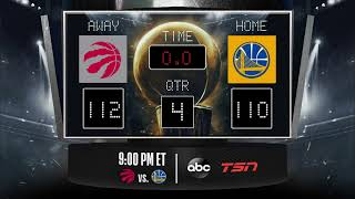Raptors @ Warriors LIVE Scoreboard - Join the conversation and catch all the action on #NBAonABC!