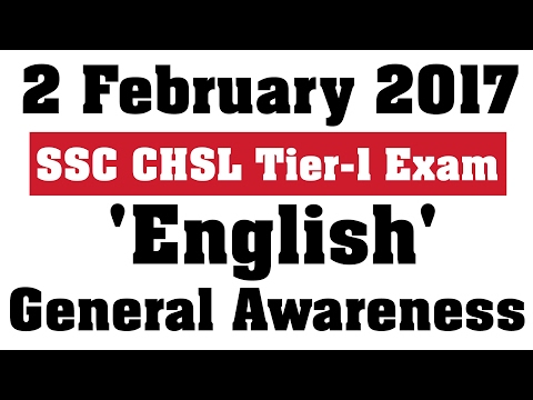 SSC CHSL Tier 1 English and GA Questions 2 Feb 2017[HINDI]