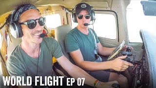 LEARNING TO FLY OUR PLANE! - World Flight Episode 7
