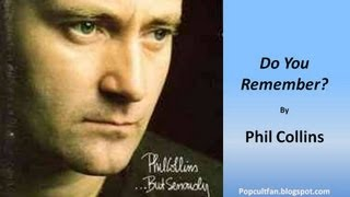 Phil Collins  Do You Remember Lyrics