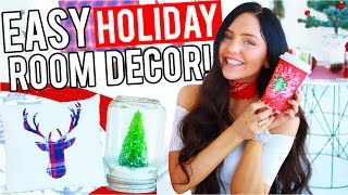 DIY Christmas Room Decor! Easy Decorations For The Holidays! 2016