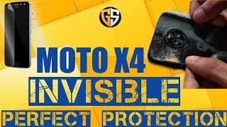 Moto X4 - Scratch Resistant Back & Front Cover | Invisible Protection | GadgetShieldz™| Moto X4 Case