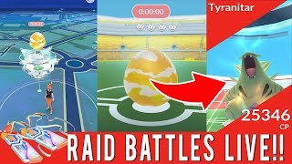 POKÉMON GO RAID BATTLES LIVE! GYM RAIDS AND NEW GYM FEATURES ARE HERE!