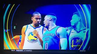 ABC Saturday Primetime Commercial NBA Thunder VS Warriors