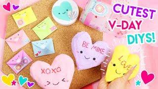 KAWAII Valentine's Day DIYs! 💖 (Squishies, Slime, and Pins)!