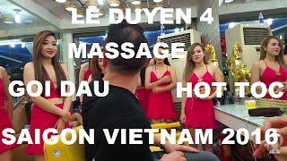 Shampoo Haircut Massage Le Duyen 4 Saigon Vietnam 2016