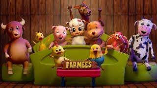 Ten In The Bed | Nursery Rhymes With Farmees | Kids Songs | Baby Rhymes