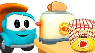 Leo the truck & toaster. Car cartoons for kids.