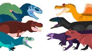 Dinossauros desenho animado | Dinossauro Rex e outros | Dinosaurs Cartoons - DinoMania