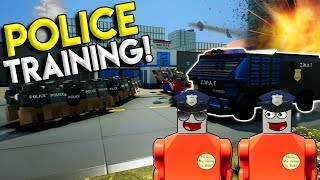 LEGO POLICE TRAINING GONE WRONG! - Brick Rigs Gameplay & Multiplayer Challenge - Police Roleplay