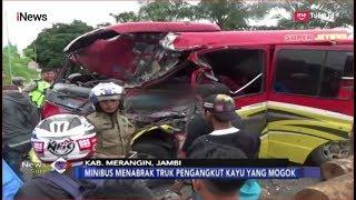 Kecelakaan Maut Minibus Vs Truk Pengangkut Kayu, Satu Tewas, 6 Luka-luka - iNews Sore 15/01