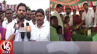 Visaka MD Vamsi Distribute Shoes To Government School Students || Nalgonda || V6 News