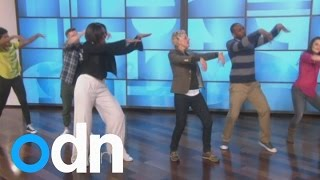 Michelle Obama shows off her dance moves with Ellen DeGeneres