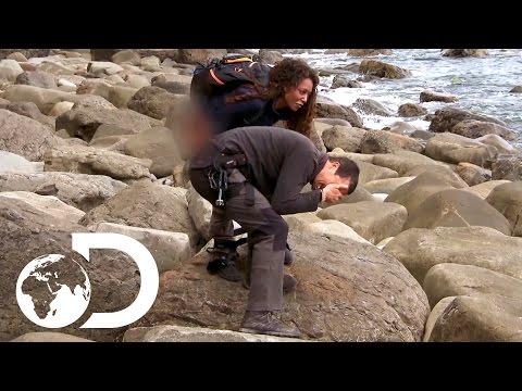 Mel B Pees on Bear's Hand! | Running Wild with Bear Grylls