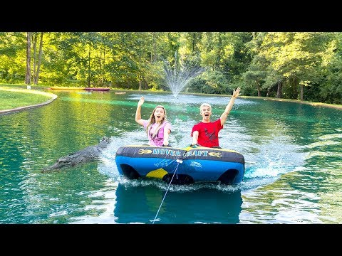 TUBING WITH MONSTER IN POND