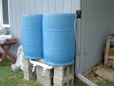 Build Rain barrel Water System Pump.