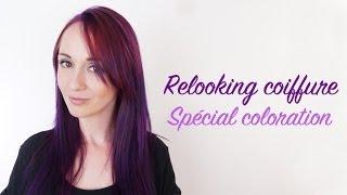 relooking coiffure spcial coloration passer du rouge au violet - Coloration Mauve