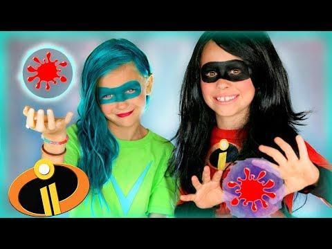 Disney Pixar Incredibles 2 Violet and Voyd Makeup and Costumes