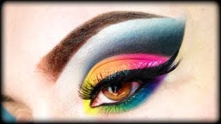 """BH Cosmetics """"Take Me To Brazil"""" Make Up Tutorial + Swatches (Rainbow Makeup)"""