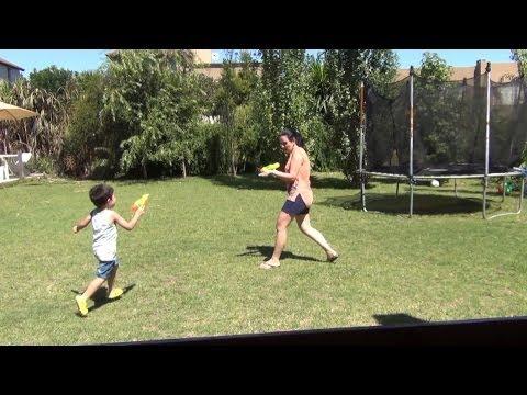 Отпускной Влог - День 2 - Рецепт Лукового салата, Стрелялки с детишками и Облом