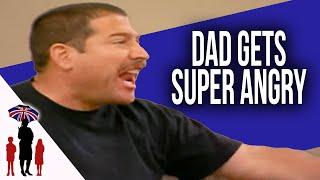 Fireman Dad's Anger Rubs Off On Kids | Supernanny USA