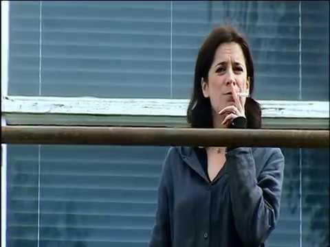 Woman Teacher Smoking At School