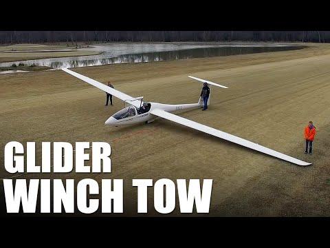 Glider Winch Tow Flite Test