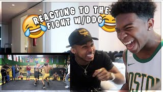 I REACT TO THE BOXING MATCH w/ DDG!!