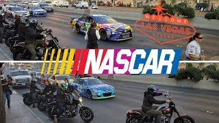 NASCAR cars on the Strip Las Vegas Champions 2017 [Kids Adventures with Sweetie Fella Aleks]