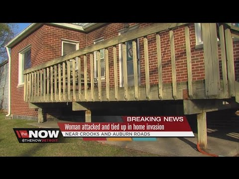 Woman tied up and blindfolded in home invasion