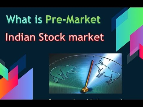 What is Pre market in indian stock market ?