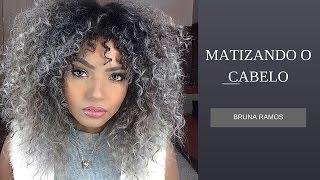 Matizando e tonalizando o cabelo (platinado/granny hair) - Bruna Ramos
