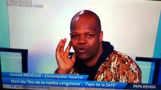 Papa WEMBA le roi de la RUMBA Congolaise nous à quitté ce dimanche 24/24/2016