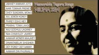 Memorable Tagore Songs   Nilima Sen   Aaj Jemon Korey   Jukebox
